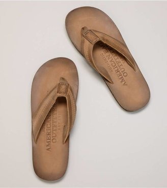 American Eagle AEO Stitched Leather Flip-Flop
