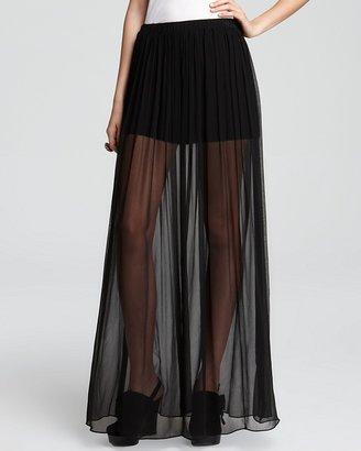 Alexis Quotation Maxi Skirt - Caitlin Sheer