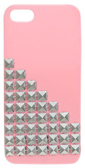Wet Seal WetSeal Pyramid Studded Phone Case Pink