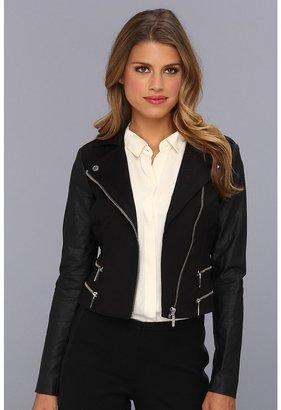 MICHAEL Michael Kors Petite Zipper Jacket (Black) - Apparel