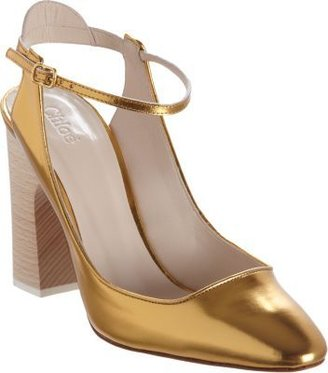 Chloé Metallic Mary Jane Pump