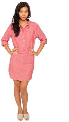 American Apparel Chambray Henley Shirt Dress