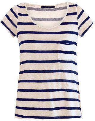 Velvet Stripe scoop-neck T-shirt