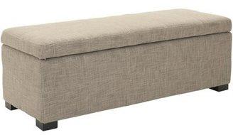 Safavieh Maiden Upholstered Flip top Storage Bench Color: Stone