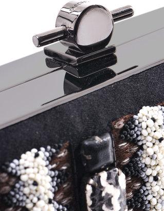 Jason Wu Bead embellished satin box clutch