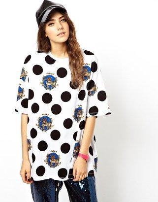 Asos T-Shirt with Polka Dot Leopard Print