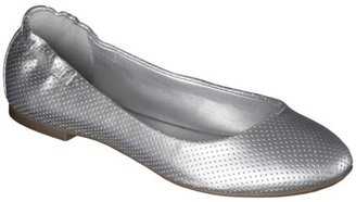 Mossimo Women's Ona Perforated Scrunch Ballet Flat - Silver