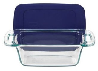 Pyrex 1.5-qt. Easy Grab Loaf Dish with Blue Cover, Blue