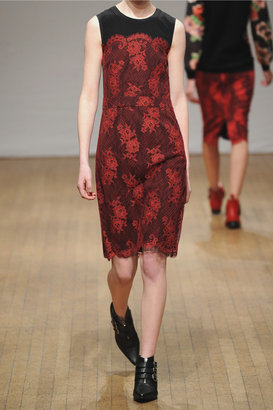 FRIDA Clements Ribeiro lace-covered crepe dress