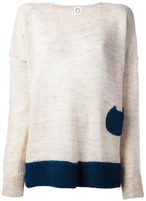 Tsumori Chisato Cats By bi-colour sweater