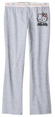 Hello Kitty Juniors Cropped Pajama Pant - Light Grey