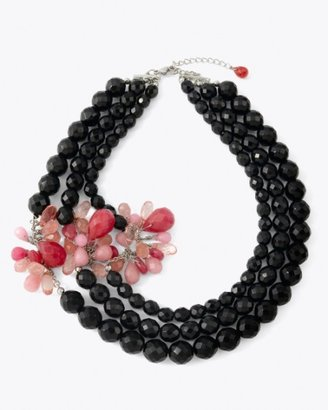 White House Jet/Pink Bauble Necklace