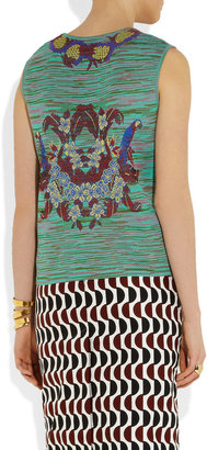 M Missoni Knitted cotton-blend tank