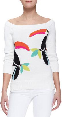 Kate Spade Kte Spde New York Toucan Slouchy Sweater