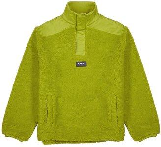 Martine Rose T-Crantock Green Faux Shearling Sweatshirt