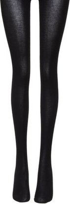 Wolford Cotton Velvet Tights-Colorless