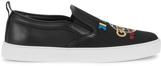 Gucci Dublin Black Leather And Canvas Sneakers
