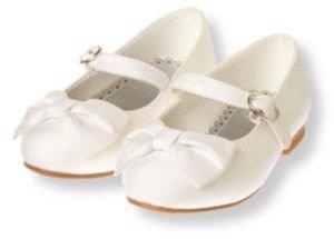 Janie and Jack Silk Bow Shoe