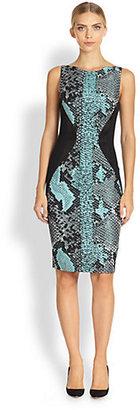Antonio Berardi Snakeskin-Print Sheath Dress