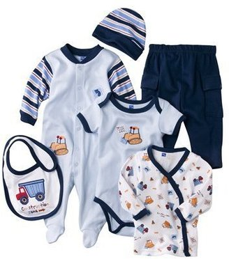 Hudson Baby Construction Zone 6 Piece Gift Set - Blue