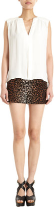 Derek Lam Mini Leopard Shorts