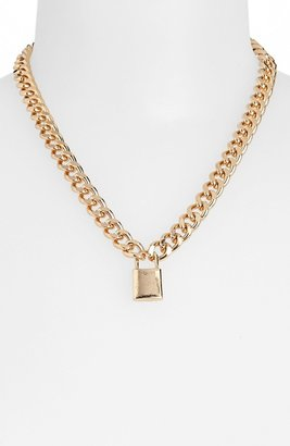 Topshop Padlock Pendant Chain Necklace
