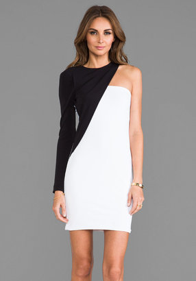 Yigal Azrouel Cut25 by One Shoulder Colorblocked Dress