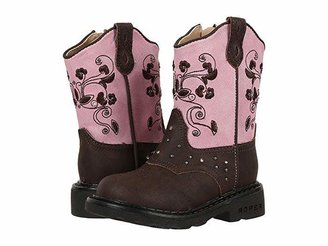 Roper Western Dazzle Lights (Toddler) (Brown) Cowboy Boots