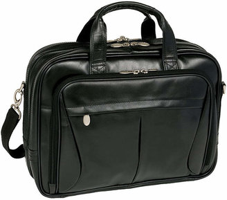 McKlein McKleinUSA Pearson 17 Leather Expandable Double Compartment Laptop Briefcase