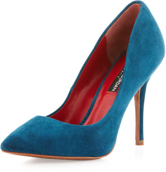Charles Jourdan Clare Suede Pump, Teal