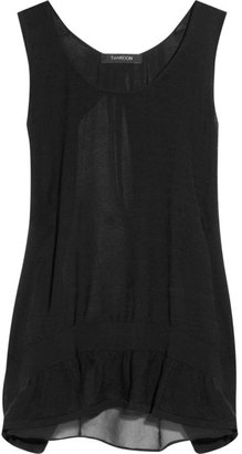 Thakoon Cotton and silk-crepe tank