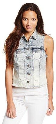 Silver Jeans Juniors' Ombre Denim Vest $68 thestylecure.com