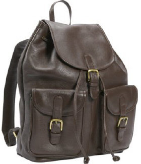 Leatherbay Laptop Backpack with Pockets