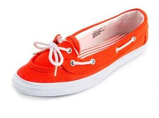 Charlotte Russe Neon Canvas Boat Shoe