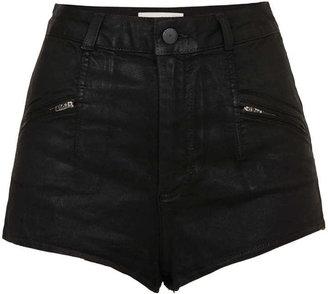 Topshop Moto zip shorts
