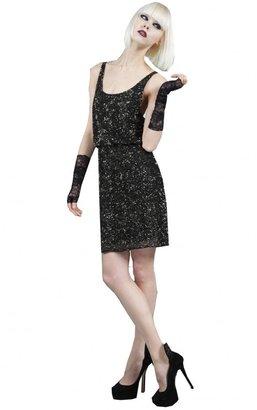 Alice + Olivia Gabby Embellished Blouson Tank Dress