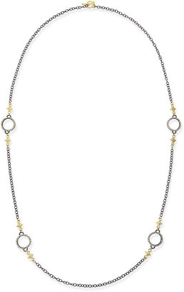 Armenta Midnight Heraldry Necklace with Diamonds