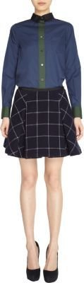 Sacai Check Print Pleated Skirt