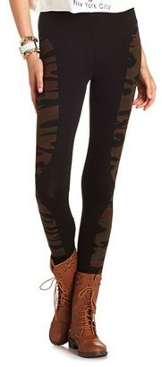 Camo Pieced Cotton Legging