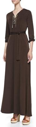 Michael Kors MICHAEL Lace-Up-Front Maxi Dress