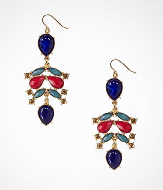 Express Rhinestone And Cabochon Drop Earrings