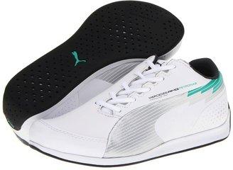 Puma Kids - evoSPEED F1 Lo MAMGP Jr (Little Kid/Big Kid) (White/Silver Metallic/Arcadia) - Footwear