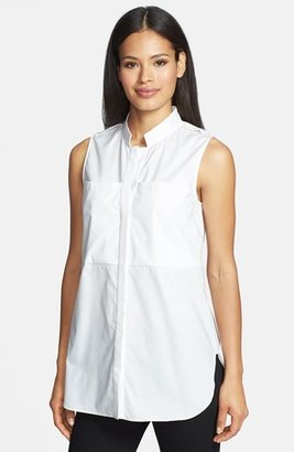 Rachel Roy Sleeveless Poplin Tunic Shirt
