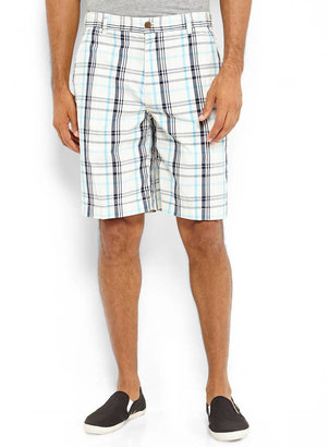 Izod Flat Front Plaid Shorts