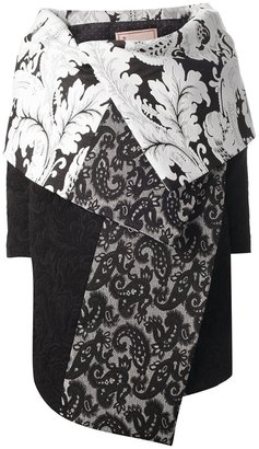 Antonio Marras printed cape coat
