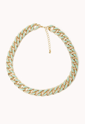 Forever 21 Lacquered Curb Chain Necklace