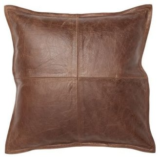 Pottery Barn Pieced Leather Pillow Cover