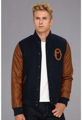 Obey The O Varsity Jacket (Navy) - Apparel