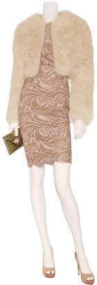 Emilio Pucci Nude Feather Short Jacket