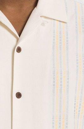 Tommy Bahama 'Four Amigos' Silk Campshirt (Big & Tall) Continental 2XLT